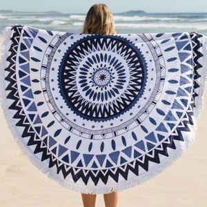 Other - TURKISH ROUND BEACH TOWEL - TURKISH EYE PRINT